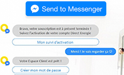 Questionnaire via Facebook Messenger