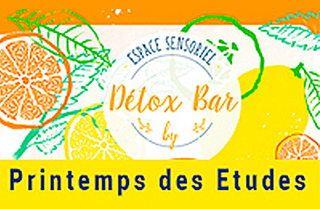 Detox Bar at Printemps des Etudes