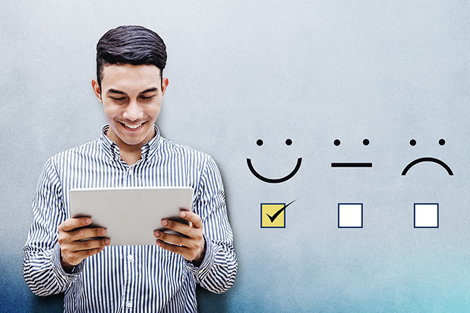 Monitoring and visualization of the online satisfaction barometer