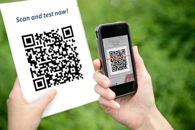 Post your questionnaire online via QR Code