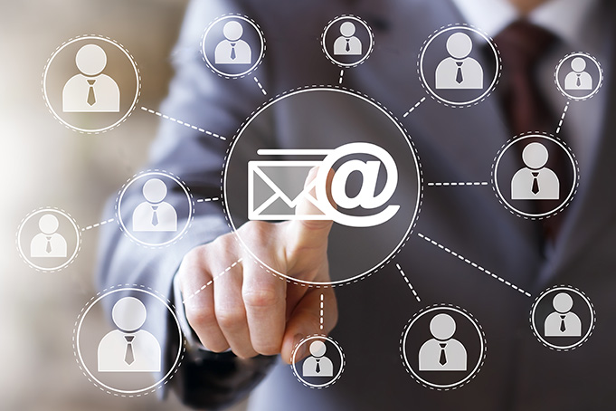 Online survey: external email routing