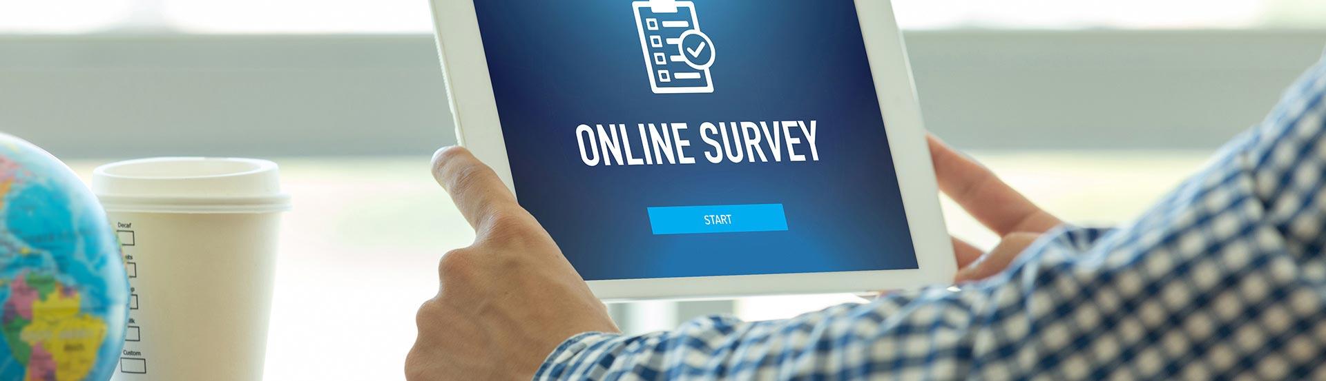 Online survey publication