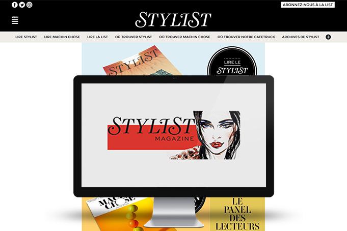 Stylist - Etude sur site web