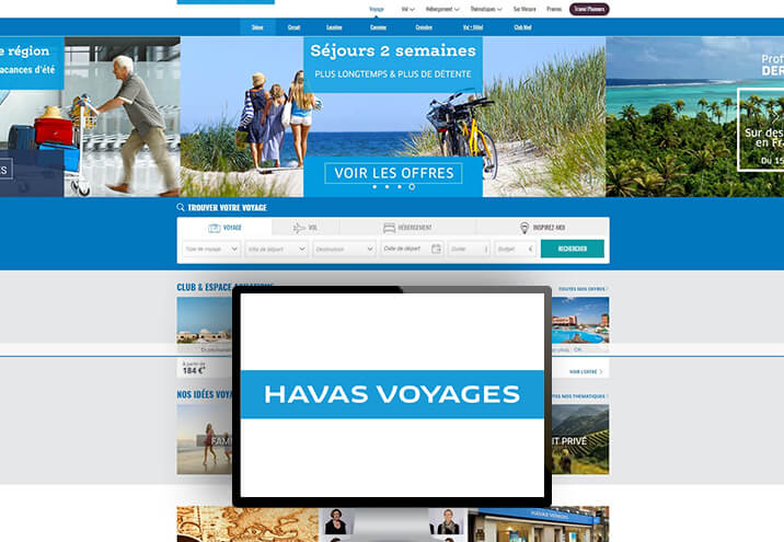 The client : Havas Voyages, France's leading brand in tourist distribution